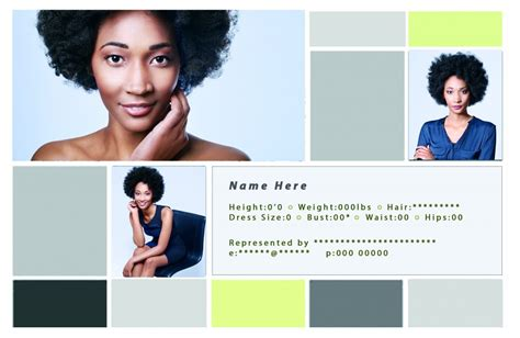 how to make a comp card for free free comp card templates for actor model headshots