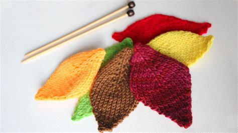 how to knit a leaf shape how to knit a leaf thanksgiving diy for beginning