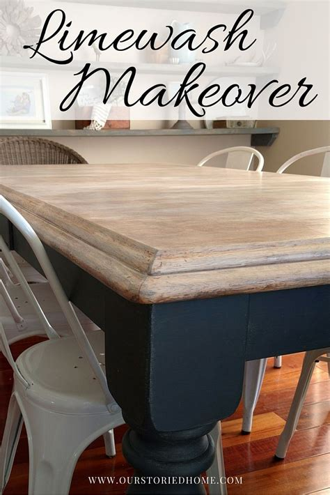 chalk paint lime wash limewashed table makeover paint furniture chalk and on