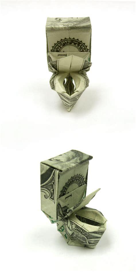 dollar bill origami toilet beautiful exles of origami paper hongkiat