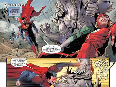 comic vs superman vs doomsday injustice gods among us comicnewbies