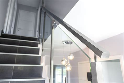 garde corps escalier verre en inox inoxdesign