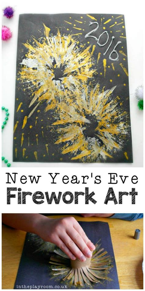 new years craft ideas for new year s fireworks craft in the playroom