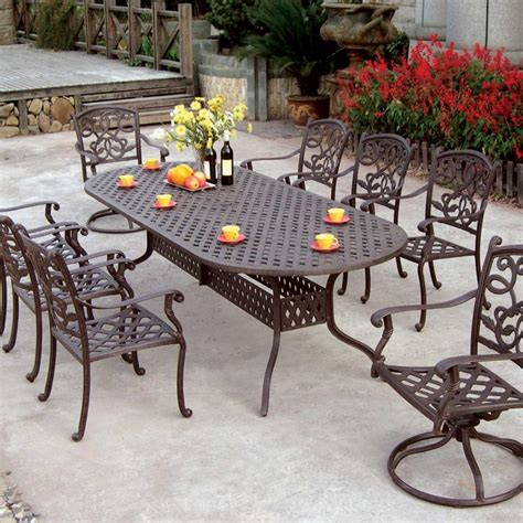 cast aluminum patio furniture sets aluminum dining room chairs aluminum dining chair set