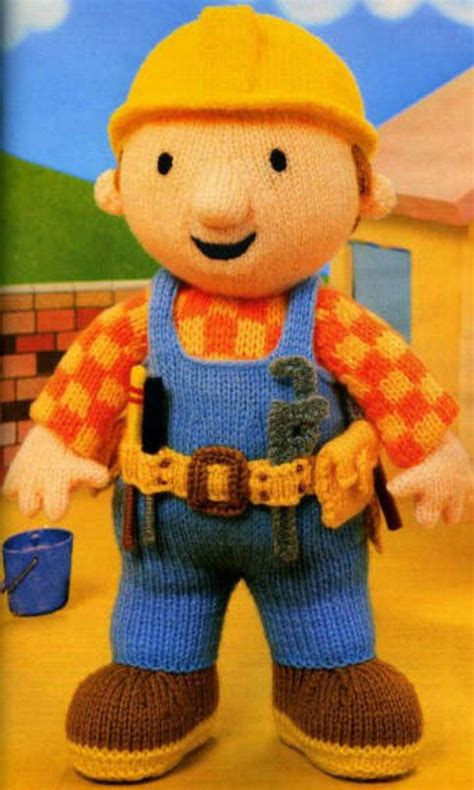 bob the builder knitting pattern bob the builder knitting pattern pdf instant by