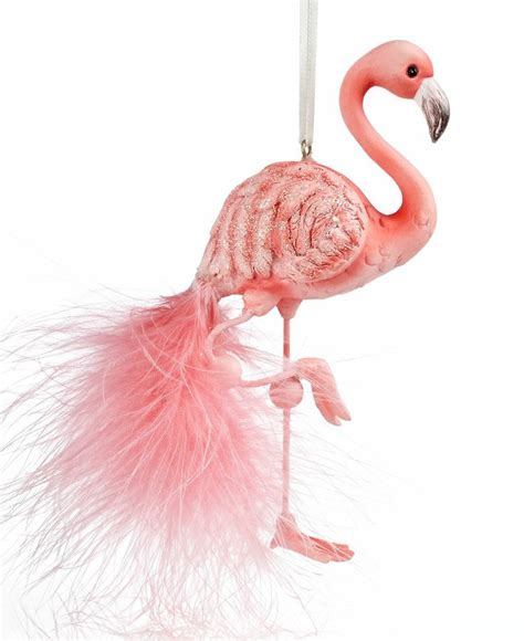 pink flamingo ornaments kurt adler ornament flamingo