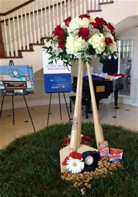 baseball centerpieces for tables sports themed weddings sports themed wedding reception