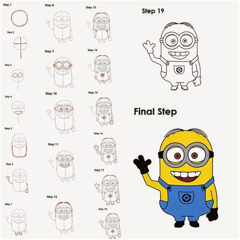 how to draw step by step best 25 minion drawing ideas on easy to draw