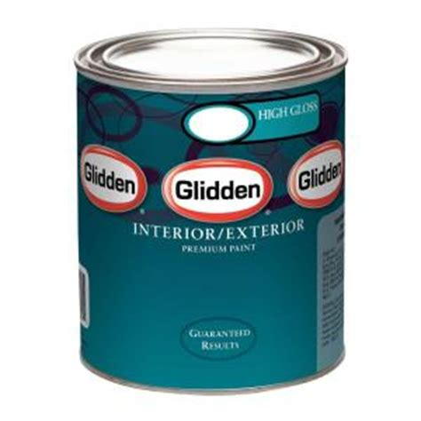 home depot paint quart glidden premium 1 qt high gloss interior and exterior