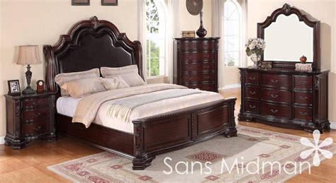 cherry bedroom furniture set new 6 pc bedroom collection traditional