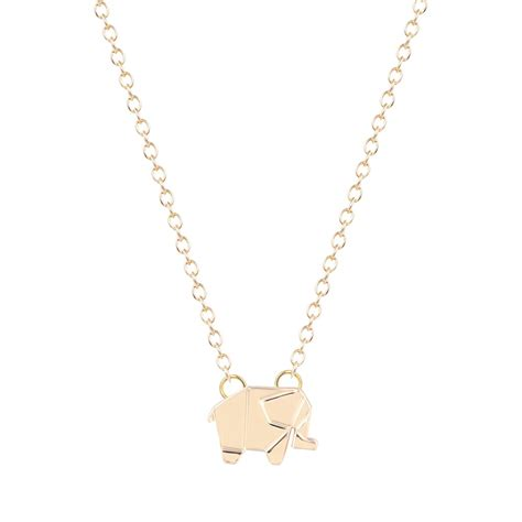 origami necklace and charms origami elephant necklace origami charm necklace geometric
