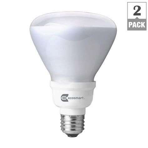 white bulbs ecosmart 65w equivalent soft white br30 cfl light bulbs 2