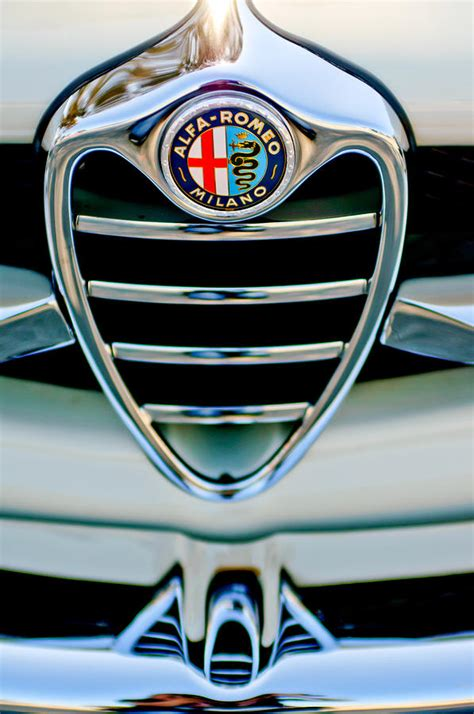 Alfa Romeo Emblem by 1962 Alfa Romeo Giulietta Coupe Sprint Speciale Grille