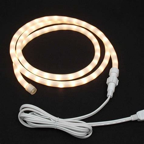 white rope lights custom frosted rope light kit 120v 1 2 quot novelty lights