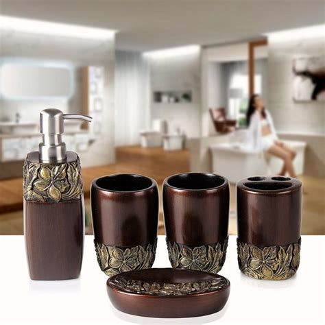 luxury bathroom accessories luxury bathroom accessories set five pieces fangmu