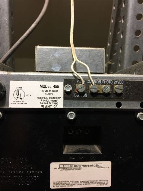 overhead door problems problem overhead door corp model 455 wiring openers