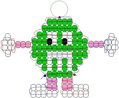 bead pets patterns green m m