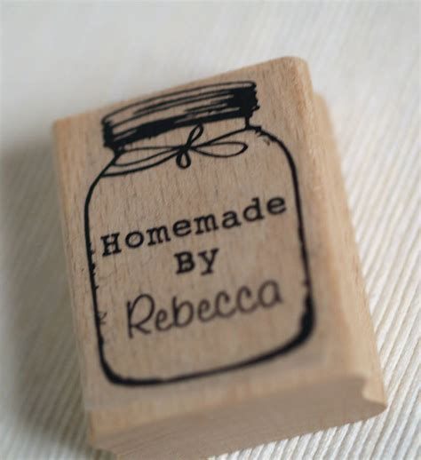 how to make a rubber st at home personalised by jar rubber st by pretty