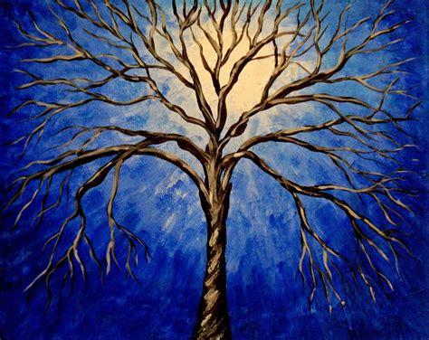 acrylic painting a tree items similar to midnight tree original acrylic abstract