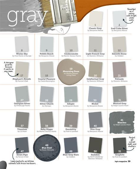 paint colors of gray best interior colors studio design gallery