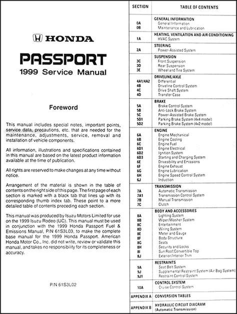 free auto repair manuals 2000 honda passport electronic valve timing honda passport service manual product user guide instruction