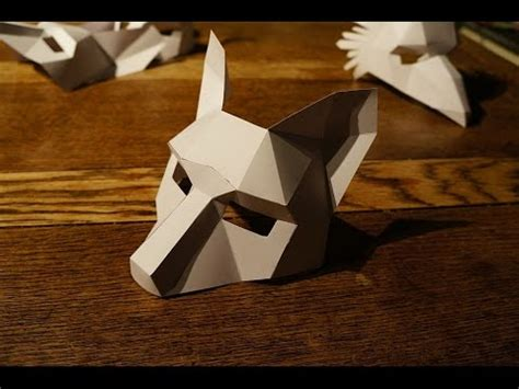 origami fox mask how to build a wintercroft mask