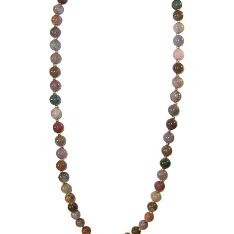 multi coloured bead necklace vintage 14k multi colored bead necklace from robbiaantique