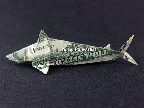 dollar origami shark shark dollar origami sea fish animal made of real money