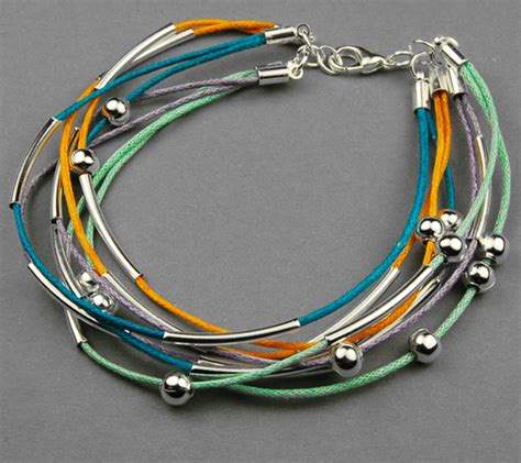how to make cool jewelry make a bracelet out of cotton wax cord pictures photos