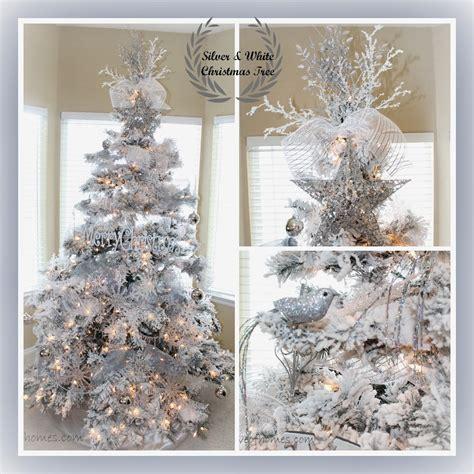 white tree decor of homes decor a silver white tree