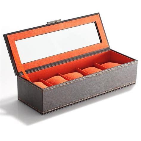 boite coffret de rangement pour 5 montres achat vente boite a montre cdiscount
