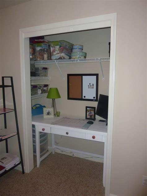 desk in closet closet desk desk ideas