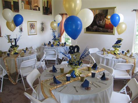 blue and gold decorations lasalle graduation gold blue and