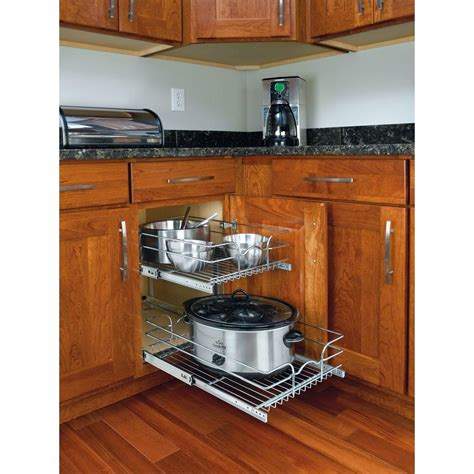pull out kitchen cabinet organizers rev a shelf 19 in h x 14 75 in w x 22 in d base cabinet