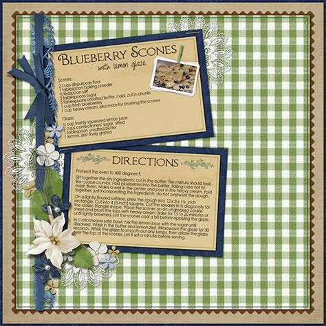 scrapbooking and card supplies creating recipe cards with digital scrapbook supplies