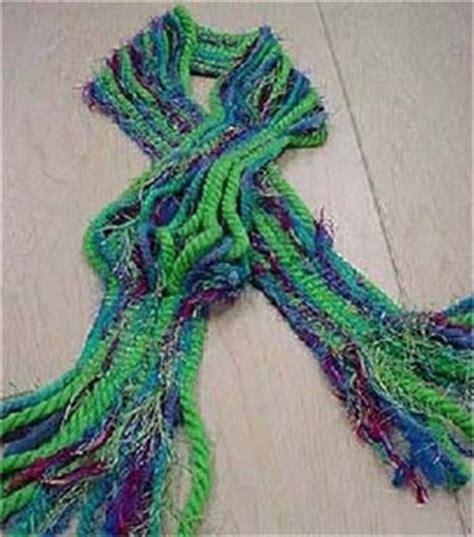 knitting yarn for scarves murphy s no knit yarn scarf