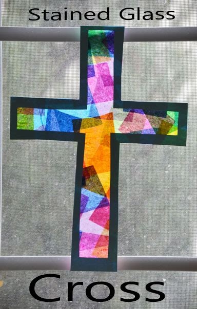 stained glass craft stained glass crosses tissue paper stained glass crosses