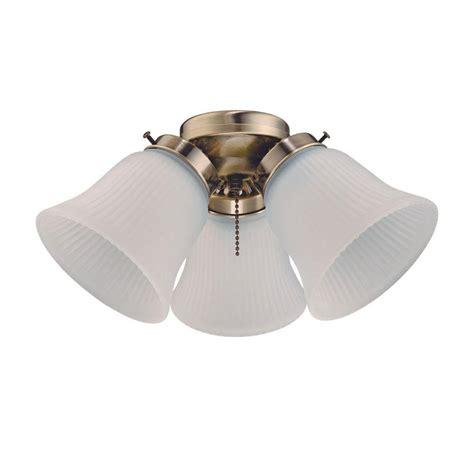 home depot ceiling fan light kits westinghouse 3 light ceiling fan light kit 7781400 the