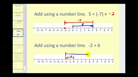 add a adding integers using a number line