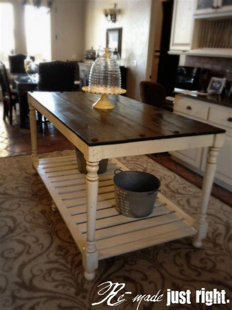 kitchen island farm table amazing rustic kitchen island diy ideas 20 diy home creative projects for your home