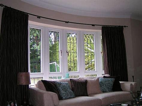 Window Treatment Ideas For Bow Windows interior two curtains on bow window home decor waplag