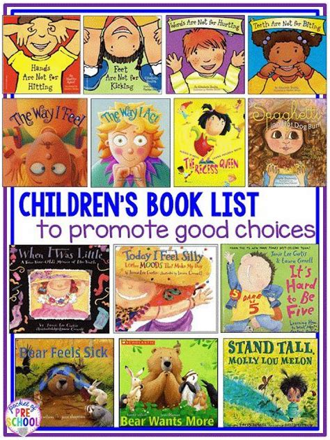 picture books to teach character children s book list to teach choices and