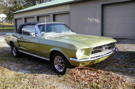 how things work cars 2009 ford mustang windshield wipe control 1967 mustang convertible 289 automatic in ivy gold for sale ford mustang 1967 for sale in