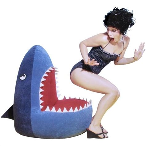 shark bean bag chair nips your tushy gearfuse