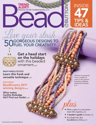 button magazine about bead button magazine facet jewelry
