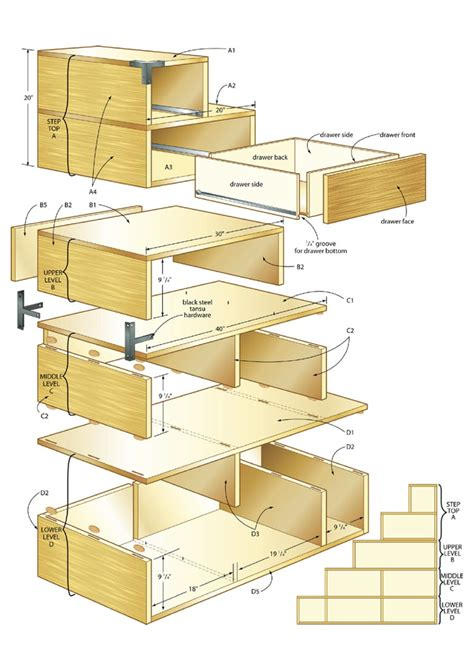 woodwork plans pdf tansu step chest plans woodideas
