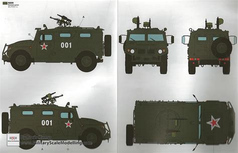 verses rubber sts gaz 233014 sts tiger armored vehicle meng model vs 003