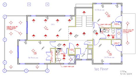 floor plan with electrical symbols new house plans
