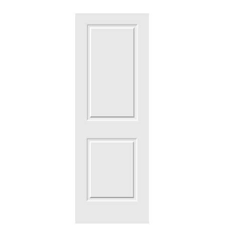 interior panel doors home depot jeld wen 28 in x 80 in c2020 primed 2 panel solid premium composite single slab interior