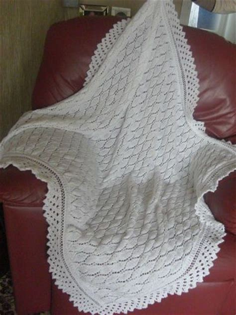 christening shawl knitting pattern brand new knitted 4 ply white baby christening shawl